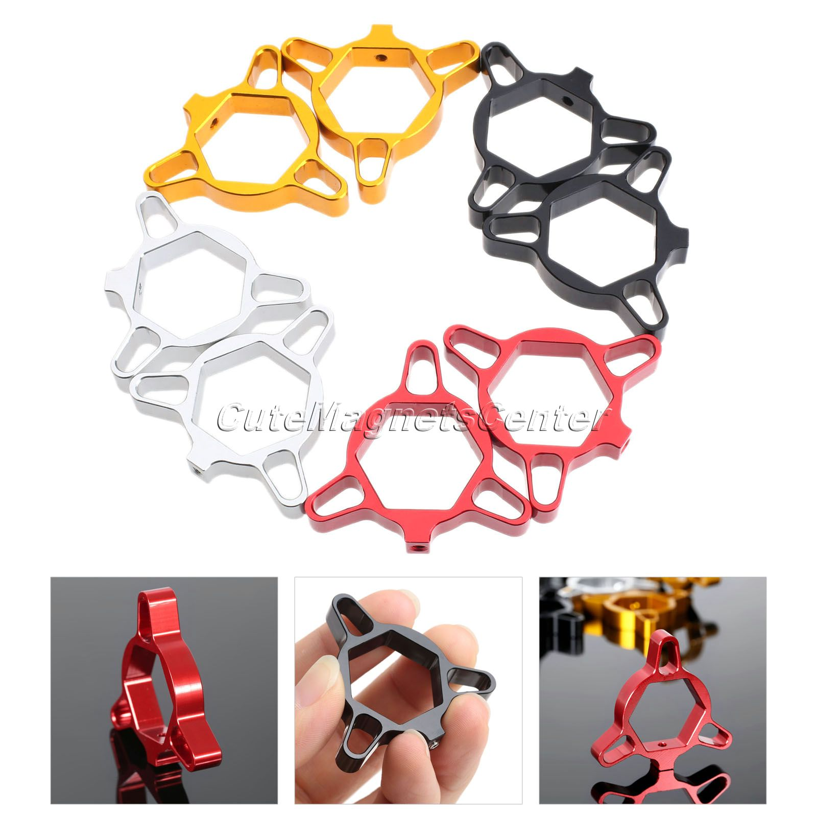 4 Colors Motorcycle 22mm CNC Aluminum Fork Preload Adjusters Universal for Honda CBR600RR Ducati KAWASAKI ZX6R Suzuki GSXR 600 d09 aluminum alloy bicycle cnc front fork washer blue white 28 6mm