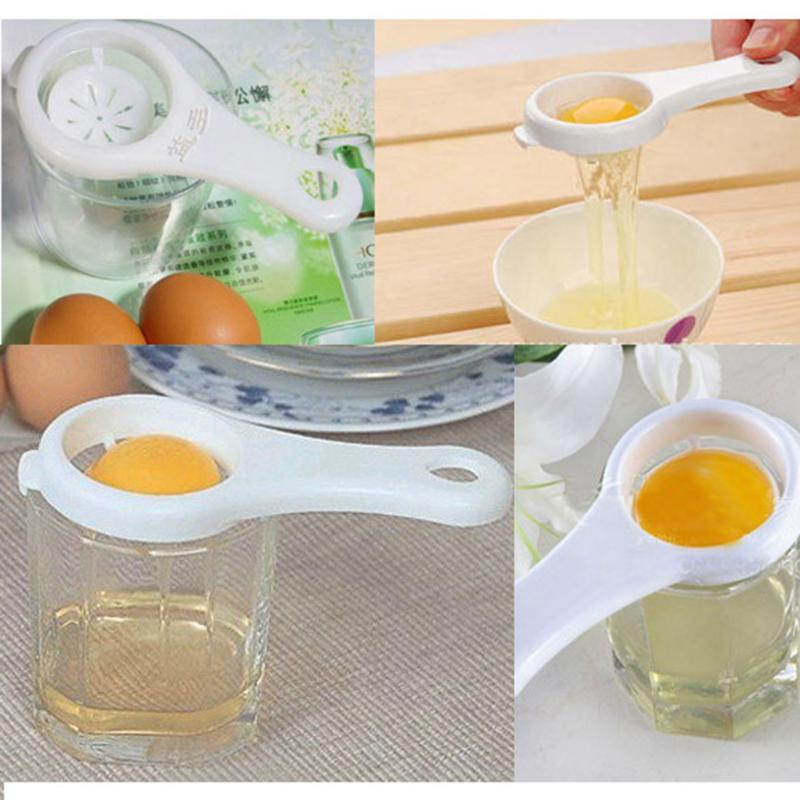 Household Plastic White Egg Yolk Seperator Separator Kitchen Cooking Gadget Sieve Tool White Egg Separator