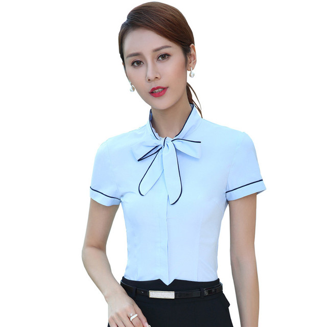 online shop fasbys female plus size bow tie shirt tooling formal