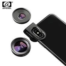 APEXEL 4K HD 휴대 전화 렌즈 110 학위 광각 10X 매크로 렌즈 2 in 1 카메라 렌즈 아이폰 XR 삼성 S10 Redmi Note 7