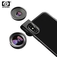 APEXEL 4K HD объектив для мобильного телефона 110 градусов Широкоугольный 10X макрообъектив 2 в 1 Объективы для камеры iPhone XR samsung S10 Redmi Note 7