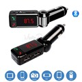 Auto Bluetooth Car kit Mãos Livres Chamada Sem Fio MP3 Player FM Transmissor Modulador LCD Dual USB Carregador de Carro Para BMW Skoda