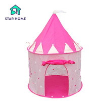 Star Home Portable Pink Children Girls Tents Outdoor Garden Folding Toy Tent Pop Up Kids Girl