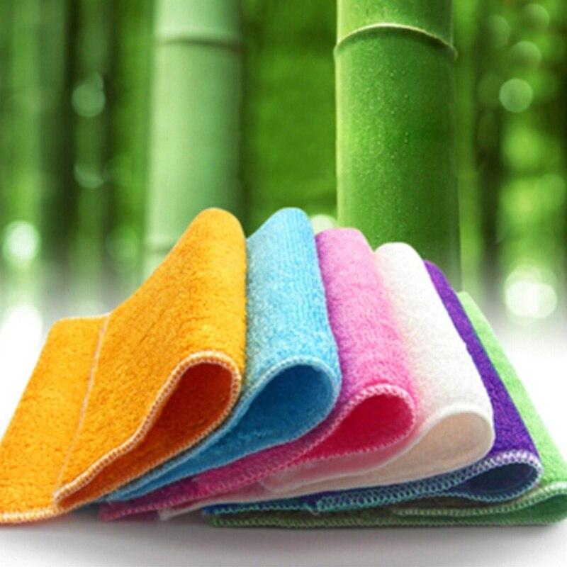 2pcs bamboo fibre oil wash cloth towel kitchen furniture floor