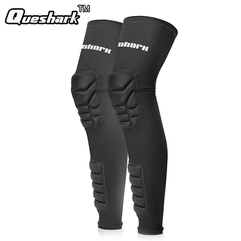 Honeycomb Basketball Knee Pad Sports Knee Brace Compression Socks Cycling Legwarmers Leg Sleeve Long Gym Volleyball Kneepads