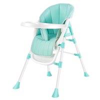 2019 Высокое качество детское Кормление высокий стул со столиком для кормления детский обеденный стул Складная Лампа портативное детское си