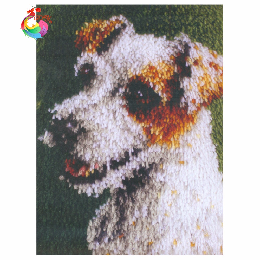 Rug Dogs Embroidery Designs: Aliexpress.com : Buy Dog Hobby Carpets Needlework Latch