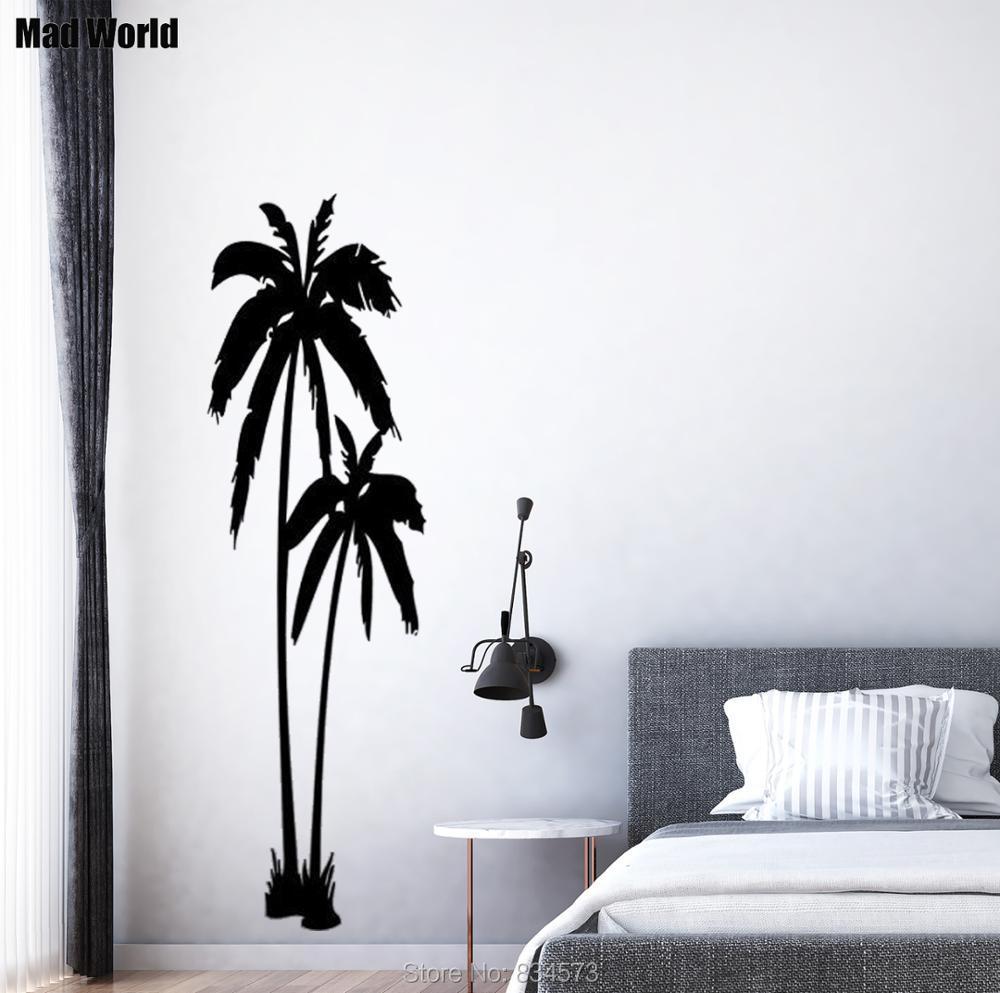 Mad world huge palm trees beautiful silhouette wall art for Beautiful palm tree decal for wall