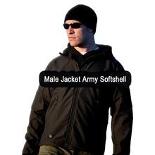 Men Hiking Jacket Outdoor Hunting Military tactics Camping chaqueta Polyester Rain Coats hairy male Hoody softshell Sports Army