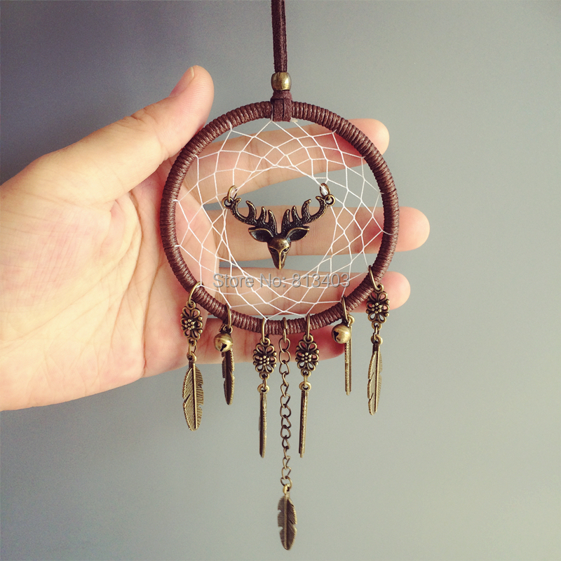 Nieuwe collectie Car Hanging Home Decorations Dream Catcher Car Home Hanging with elands and Jingle Bells Beste cadeaus voor haar