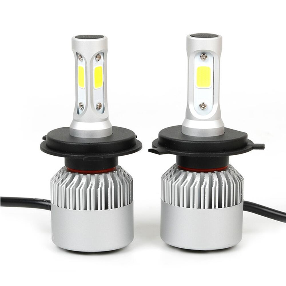 H4 LED Car Headlight Bulbs 8000K 72W 12V Head Fog Lamp Plug&Play COB Auto Replacement Parts