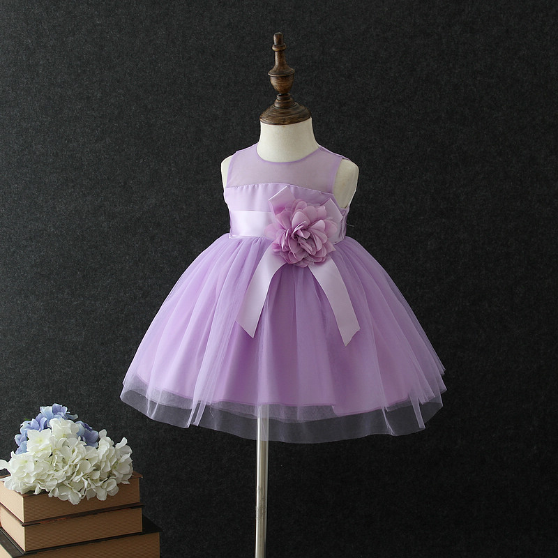 Baby Girl Birthday Party Dresses Newborn Girls Lace Flower Dress Kids Summer Vestido Clothes Girls Bebe Wedding Party Gowns 0-4Y