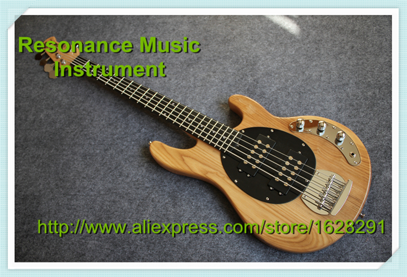 Custom Shop 5 Strings Bass Guitar Musicman Natural Elm Body & Left Handed Available цена 2017