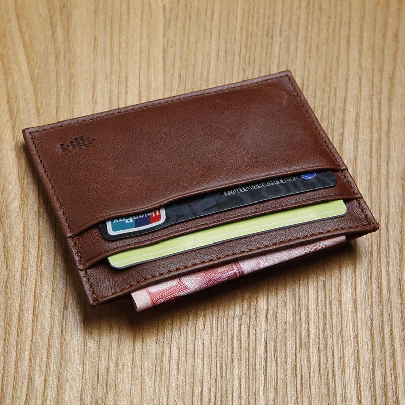 LANSPACE pemegang kartu kulit asli kasual kartu id pemegang dompet koin pemegang merek terkenal
