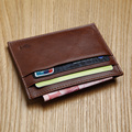 LANSPACE genuine leather card holder  casual card id holders famous brand coin purses holders