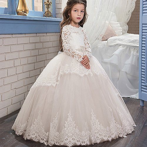 flower     girls     dresses   long white first communion   dresses   for   girls   vestido daminha de comunion para ninas   dresses   for   girls