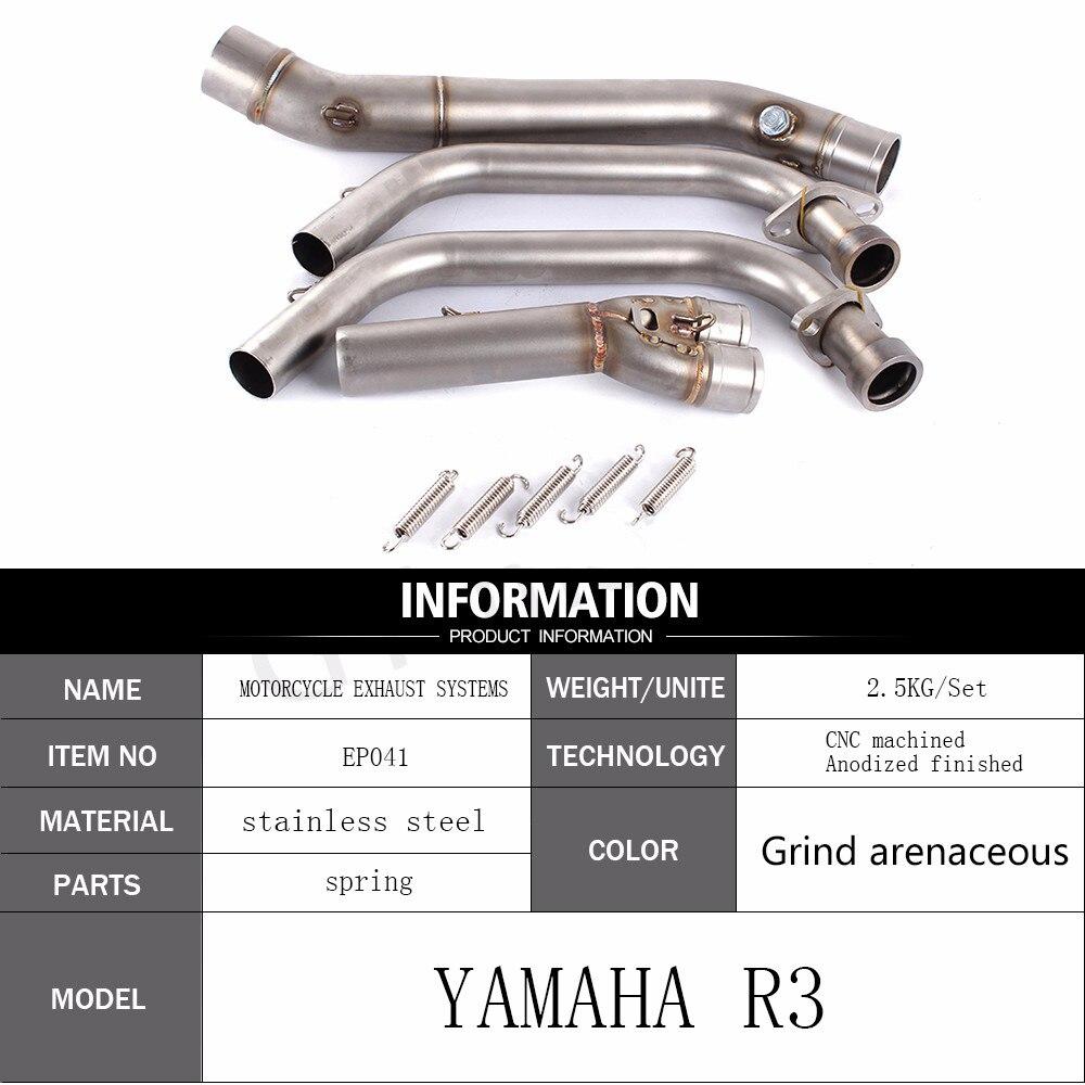 Полный выхлопной Системы Спереди Трубы для Yamaha R3 r25 2014-2016 mt-03 2016-2017