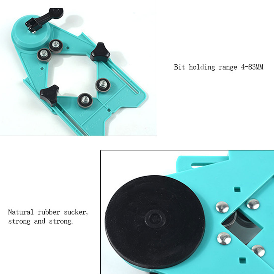 Diamond Drill Bit Tile Adjustable 4-83mm Glass Hole Saw Core Bit Guide With Vacuum Base Sucker Tile Glass Openings Locator