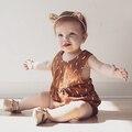 2017 nuevos Mamelucos Del Bebé Del estilo del verano sin mangas fresco Ropa de Bebé niña Niño Traje Del Bebé ropa de recién nacido ropa de bebé mono