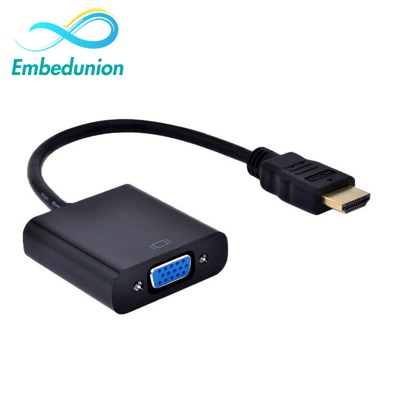HDMI To VGA Cable Adapter HDMI Male to VGA Female Adapter HDMI To VGA Cable Converter For Laptop Notebook Monitors video converter wholesale hdmi male to vga rgb female hdmi to vga cable 1080p for pc laptop aqjg