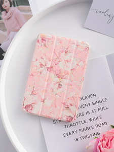 Image 3 - Pink Flower Flip Cover For iPad Pro 9.7 11 air 10.5 12.9 2020 Air2 Mini 1 2 3 4 5 2019 Tablet Case for New iPad 9.7 2017 2018