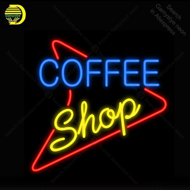 Us 97 28 24 Off Neon Sign For Coffee 50s Style Bulbs Lamp India Gl S Decor Garage Room Advertise Oil Station Print Logo In