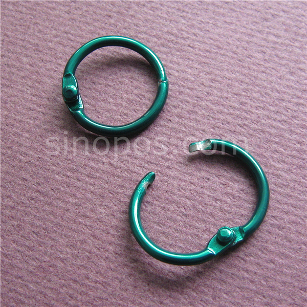 Steel Mini Split Rings 14mm Colored in plating finish, hinged split ...
