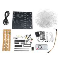 Upgraded Version 3D Light Cube Kit 8x8x8 Blue LED MP3 Music Spectrum DIY Electronic Kit Module With 3W Amplifier+3W Speaker