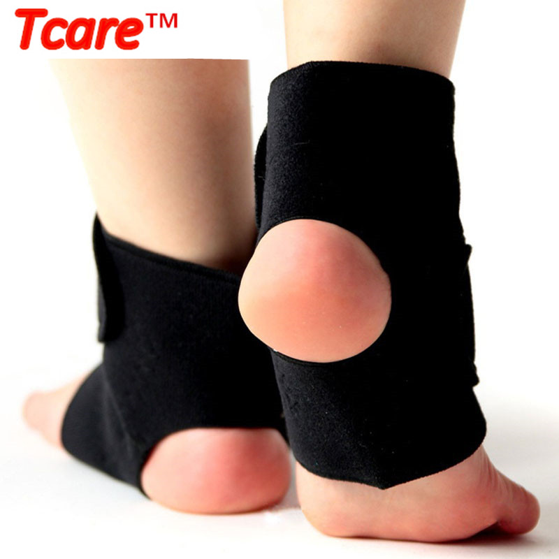 1Pair Tcare Self-heating Tourmaline Far Infrared Magnetic Therapy Ankle Support Brace Massager Health Care