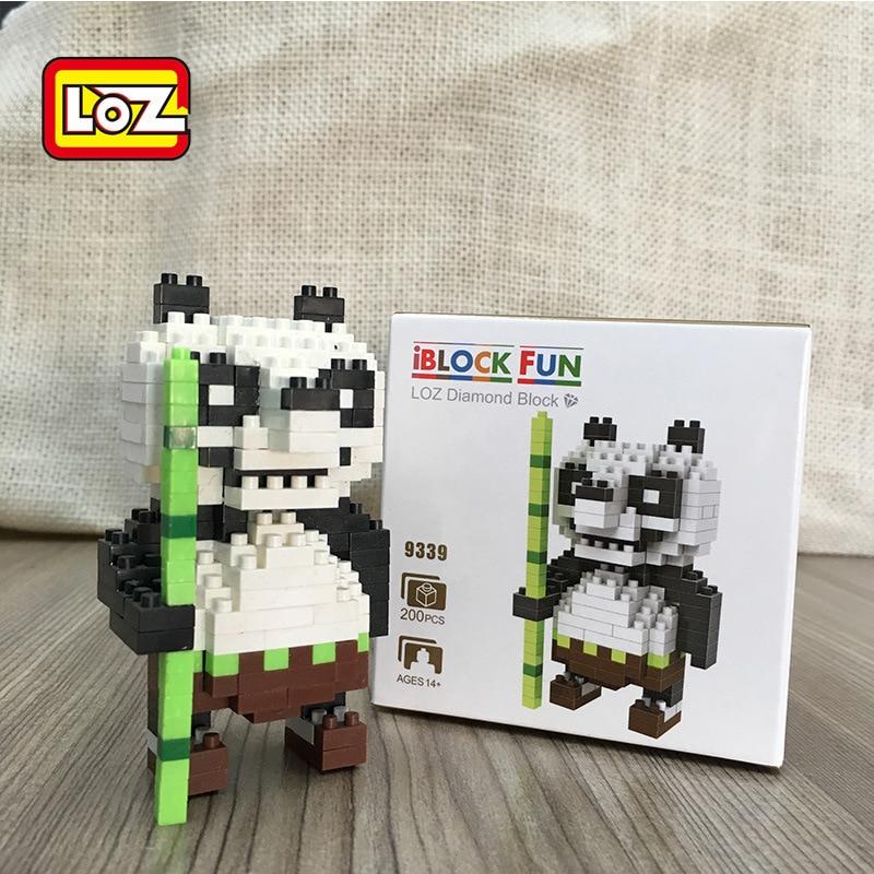 LOZ Jouets Nano Panda Figurine Figures Animales pour Enfants Diamant Blocs Assemblee Batiment Jouet Loisirs Educatifs BRICOLAGE