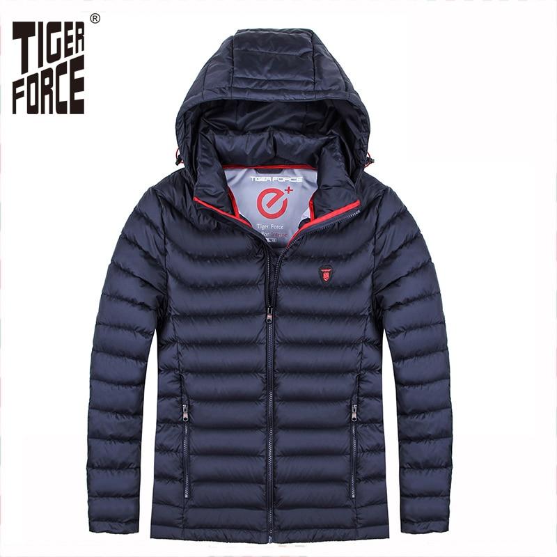 TIGER FORCE Brand Men Winter Jackets Padded Coat Bio-based Cotton Jacket Ultra Light Puffy Coats Men