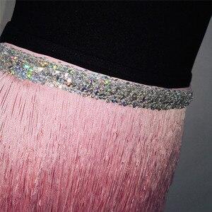 Image 5 - FestivalQueen jupe à franges pour femmes, écharpe de danse du ventre, Mini jupes pour Costume, ceinture tribale, ceinture ajustable