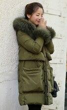 2015 новинка меховой воротник теплые куртки женщина верхней одежды сгущать парки пуховик женщин зимнее пальто