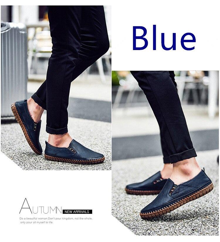 JINTOHO Big Size Men Genuine Leather Shoes Slip On Black Shoes Real Leather Loafers Mens Moccasins Shoes Italian Designer Shoes
