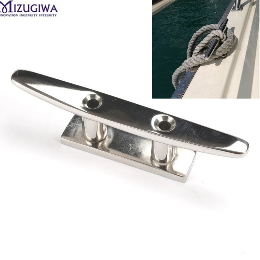 US $15 18 10% OFF 2PC 316 Stainless Steel Deck Boat Cleats Marine Heavy  Duty Mooring Rope Tie 4