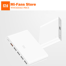 Original Xiaomi Mi USB C 60W (รวม) charger สมาร์ทเอาท์พุท 1 Type C 5 USB A Dual QC 3.0 Quick Charge plug18W X2 + 24W(5V = 2.4A MAX)