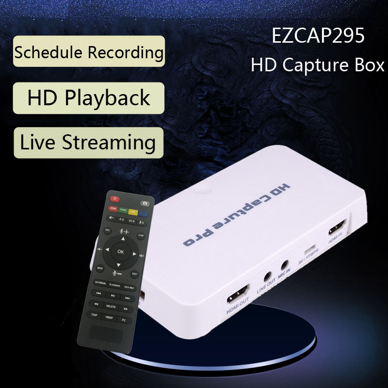 HDMI YPbPr CVBS Video Record Capture Box Schedual Recording Playback TV Computer Game Recording Capture Card can Live Stream,