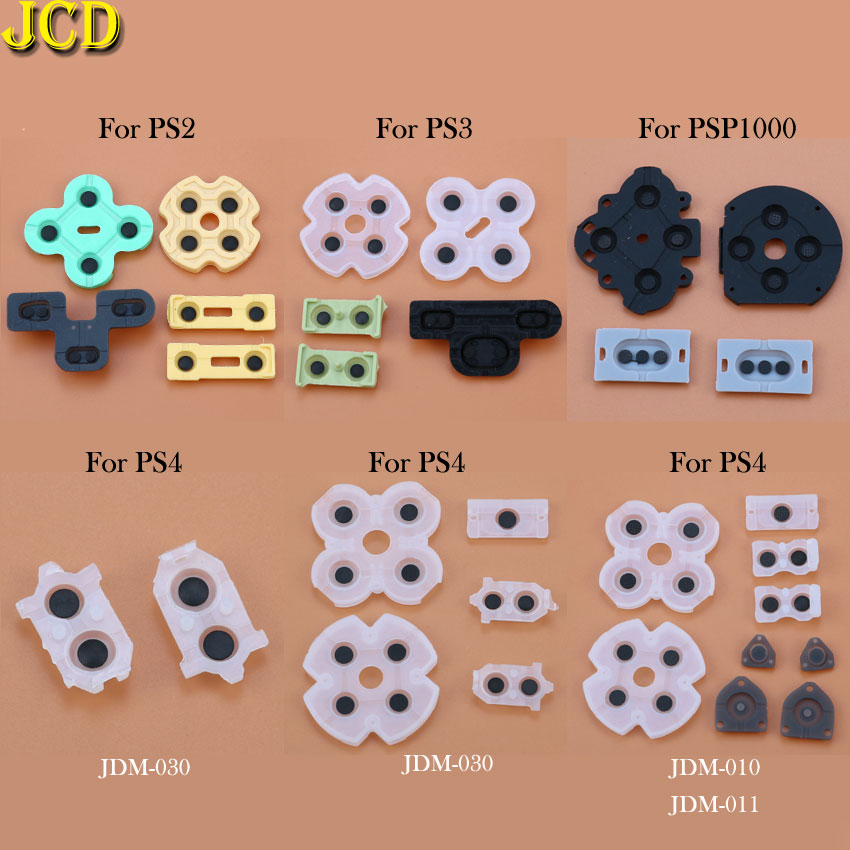 JCD 1Set For Dualshock 4 JDM-001 011 30 Silicon Rubber Conductive D-Pad For PS2 PS3 PS4 PSP1000 Controller Repair Parts