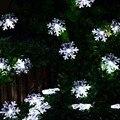 Chegam novas 20 LED Floco De Neve Flores Solares Luzes de Fadas String Solares Luzes Da Corda À Prova D' Água Ao Ar Livre Jardim Decorado Natal