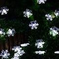 Nuevo llega 20 LLEVÓ Copo De Nieve Flores Cadena Solar Luces de Hadas Impermeable Al Aire Libre Luces Solares de la Secuencia de Jardín Decoración de Navidad