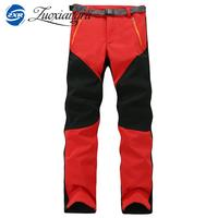 2017 New Winter Men Women Hiking Pants Outdoor Softshell Trousers Waterproof Windproof Thermal For Camping Ski
