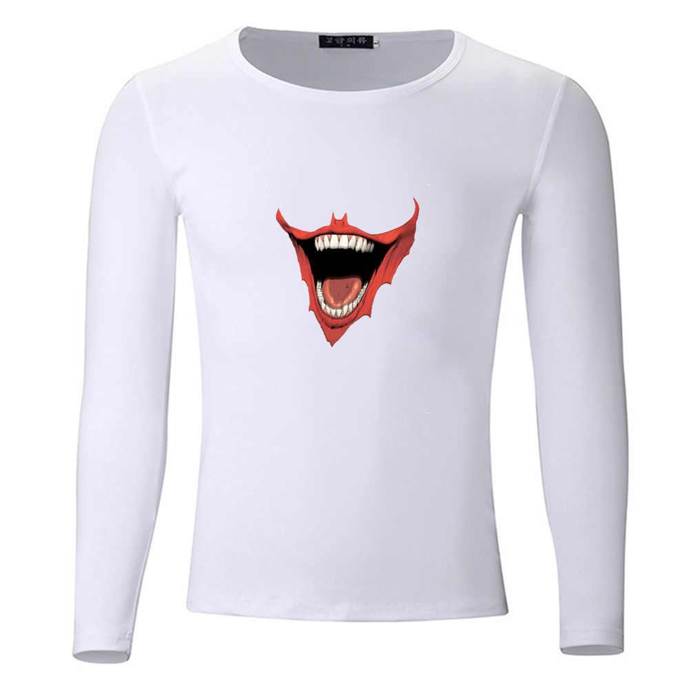 Футболка с Бэтменом и джокером для студентов; сезон весна-осень; футболка с длинными рукавами для мальчиков и девочек; футболки для детей