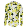 Floral Print Men Shirts Cotton Long Sleeve Casual Shirts Men Slim Fit Designer Mens Floral Shirt New Fashion Camisa Masculina