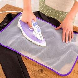 1 pces 40x60cm protetor de malha imprensa engomar pano guarda proteger roupas de vestuário delicado