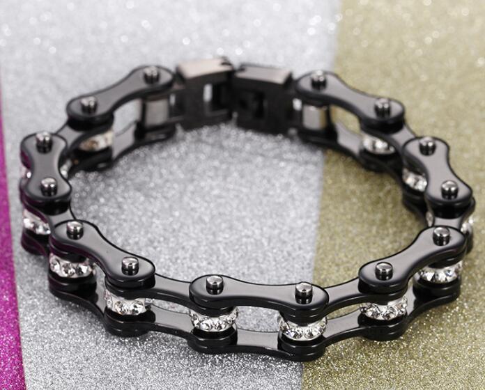 Fashion Gifts Men S Women Crystals Stainless Steel Biker
