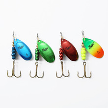 hot deal buy mepps 1pcs size 0# 1# 2# 3# 4# 5# fishing treble hooks 3 colors mepps lures spoon tackle peche accessories