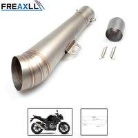 FREAXLL Motorcycle Exhaust Muffler SC GP Escape Exhaust Mufflers Carbon Fiber Exhaust Pipe 36 51mm