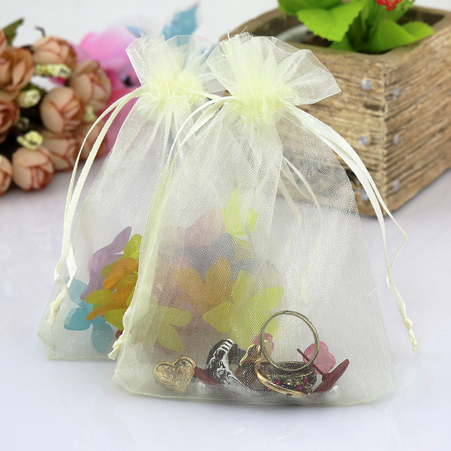 Large Organza Bags 20 30cm Ivory 500pcs Lot Jewelry Ng Pretty Pouches Wedding
