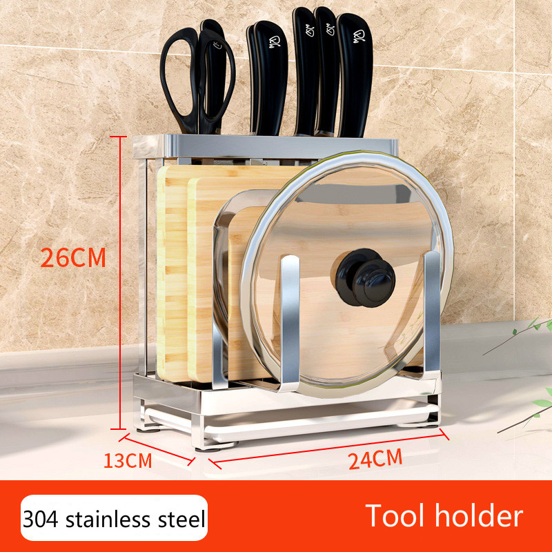304 stainless steel knife rest kitchen supplies multifunctional holder shelf cutting board storage rack for