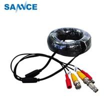 SANNCE BNC Video Power Siamese Cable 65ft 18m 20m for Analog AHD CVI CCTV Surveillance Camera Surveillance DVR Kit